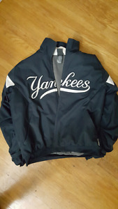 AUTHENTIC MAJESTIC YANKEES ON FIELD JACKET NEED GONE ASAP
