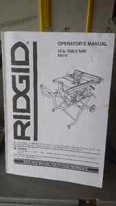 """Rigid !0"""" Table Saw with folding stand"""