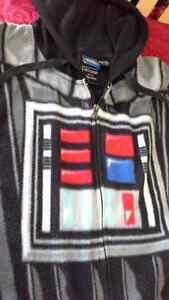 Star Wars hooded Darth Vader adult onesie pajama, size XL