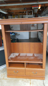Entertainment Centre Solid Wood