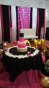 Elegant and Affordable Decor, Centerpieces, Backdrops, Stage