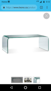 Flow coffee table Glass