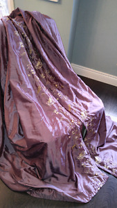 2 Sets of Purple Curtains (4 panels) from HomeSense