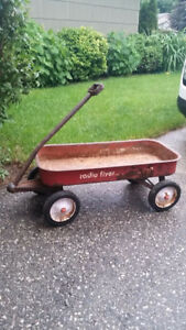 Vintage Metal Radio Flyer Toy Red Wagon