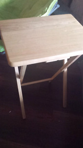 4 tray tables with stand $30