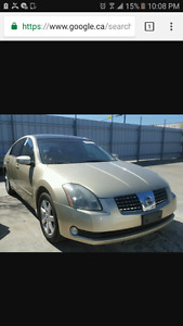 Parting out nissan maxima  3.5 l