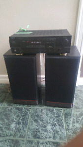 PSB Stereo Speakers with Denon Amplifier Reciever