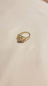 Real solid gold ring
