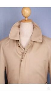Mens BURBERRY Bespoke Short TRENCH Coat Size 36 Small
