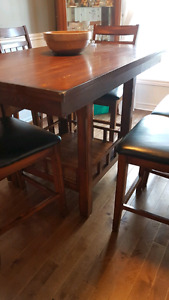 Solid wood Dining Table (Pub height)