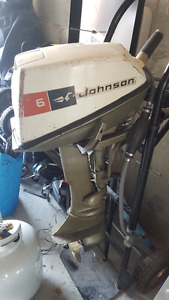 Johnson 6hp Gas Powered Outboard Motor
