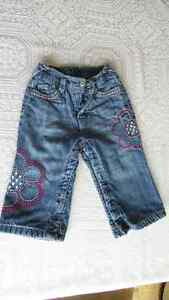 Clothes, baby girl bottoms, size 12 to 18