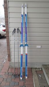 Adult size Cross Country Skis and Poles for Sale