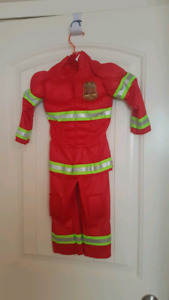 Halloween Toddler 2-3 yrs old firefighter muscle costume in red