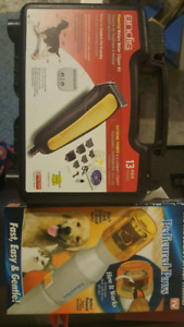 Dog grooming Clippers and  rotary nail filing tool supplies