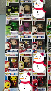 Various Funko Pop (Marvel, Power Rangers, etc.)