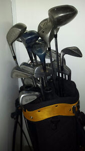 Mens Right Handed Clubs with bag