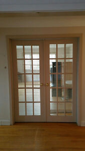 BEAUTIFUL GLASS PANEL DOORS - 3 DOORS