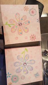 Canvas painting for girls bedroom