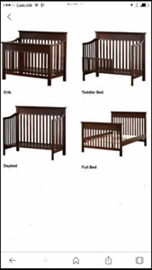 4-1 crib with matching change table