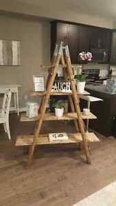 Handmade ladder shelf