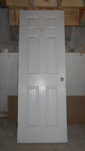 6 PANEL INTERIOR DOOR W HINGES