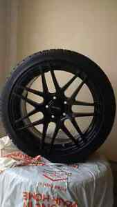 "19"" Black Rims w/ Bridgestone Blizzak Winter Tires"
