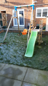 Children's solid wood swing set