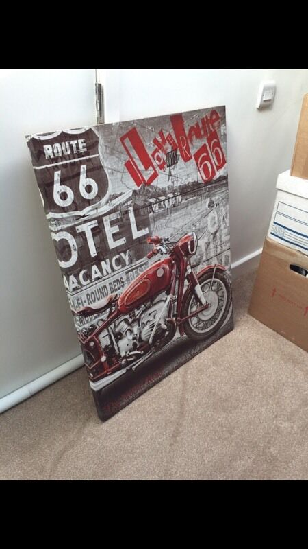 Route 66 canvas picture sign artin Havant, HampshireGumtree - Route 66 canvas picture sign art, mint condition basically new. No room for it so am selling!