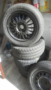 NISSAN CAR TIRES WITH BEAUTIFUL ALLOY RIMS