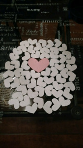 Rustic Themed Wooden Hearts