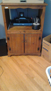Beautiful antique microwave stand
