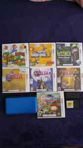 Nintendo 3Ds with 9 games