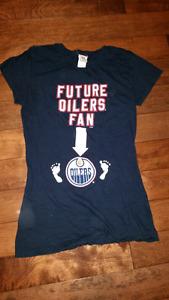 Oilers maternity shirt