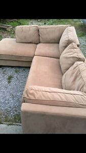 Large beige sectional