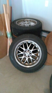 Winter tires (4) and rims for Audi Q5