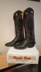"Men's 17"" Tall Black Cowboy Boots"
