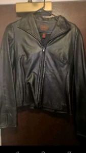 Danier Black Leather Jacket - Womens X-Small