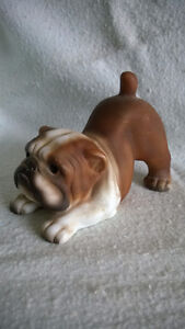 Hand Painted Bulldog Figurine