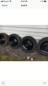 4 Snow Tires on Chevy Rims
