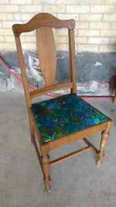 Beautiful and unique antique  chair reupholstered