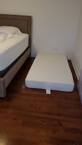 twin size memory foam mattress like new one month old
