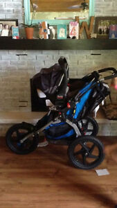 BOB sport stroller with Britax infant car seat