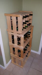 wine bottles and cases