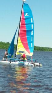 2001 Hobie Cat Getaway & 2007 Hobie Cabai Boat Trailer