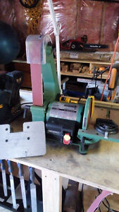 "2x42 Belt sander/ grinder w/ 8"" disk General International Tools"