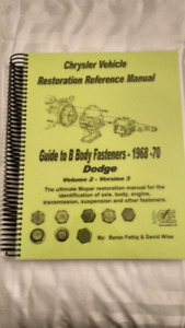 Restoration and Judging Guidelines Dodge 1968-70