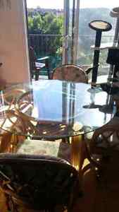 Glass Round Table & chairs set ASAP rottin style bargain