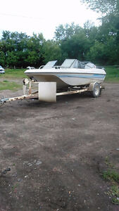 15' boat with a 85hp evinrude
