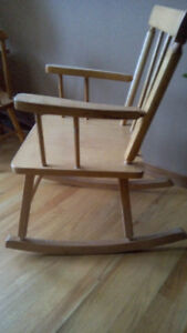child's wooden rocker chair
